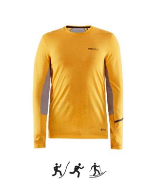 Pánske tričko CRAFT SubZ Wool M - yellow