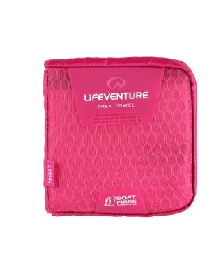 Uterák LIFESYSTEMS SoftFibre Advance Trek Towel - Pocket (Pink)
