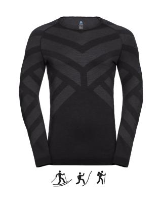 Pánske tričko ODLO BL TOP Crew neck l/s NATURAL + KINSHIP M
