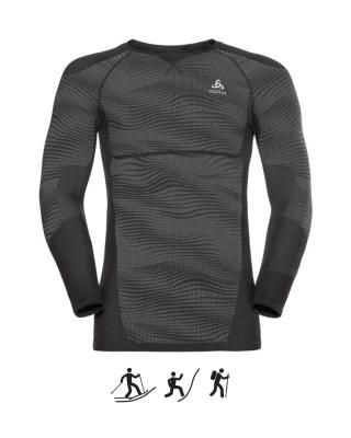 Pánske tričko ODLO BL TOP Crew neck l/s BLACKCOMB M