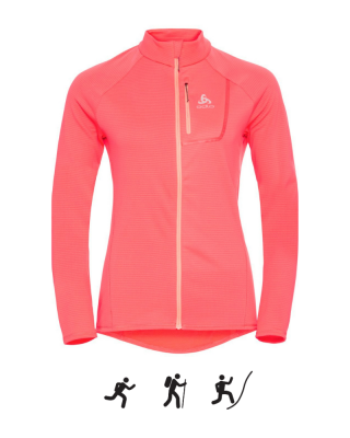 Dámska mikina ODLO Midlayer full zip FLI LIGHT
