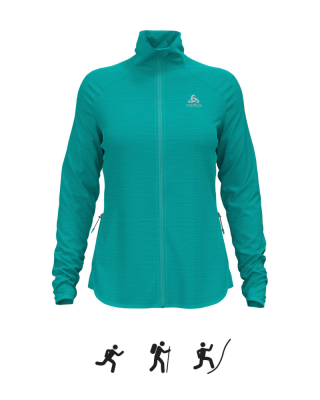 Dámska mikina ODLO Midlayer full zip STEAM